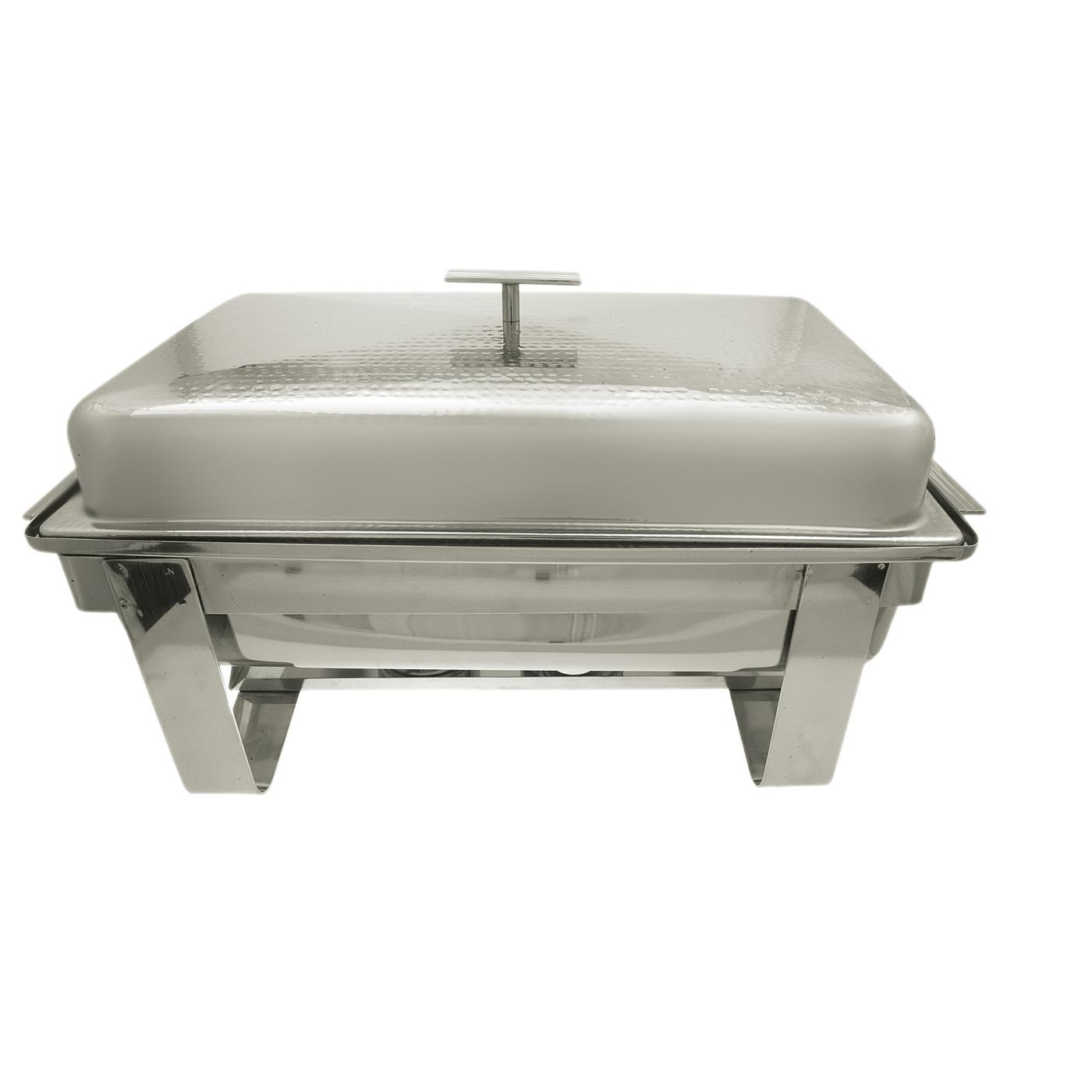 Stainless Steel Hammered Chafer - Oblong 8 Quart
