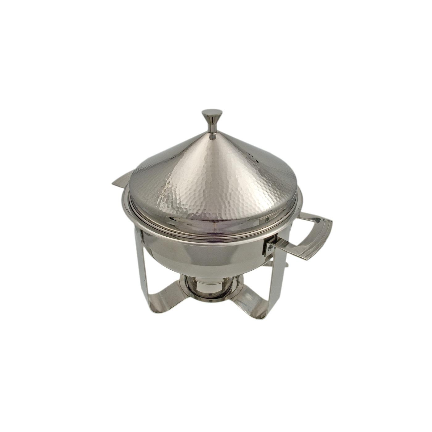 Stainless Steel Hammered Chafer - Round 3 Quart