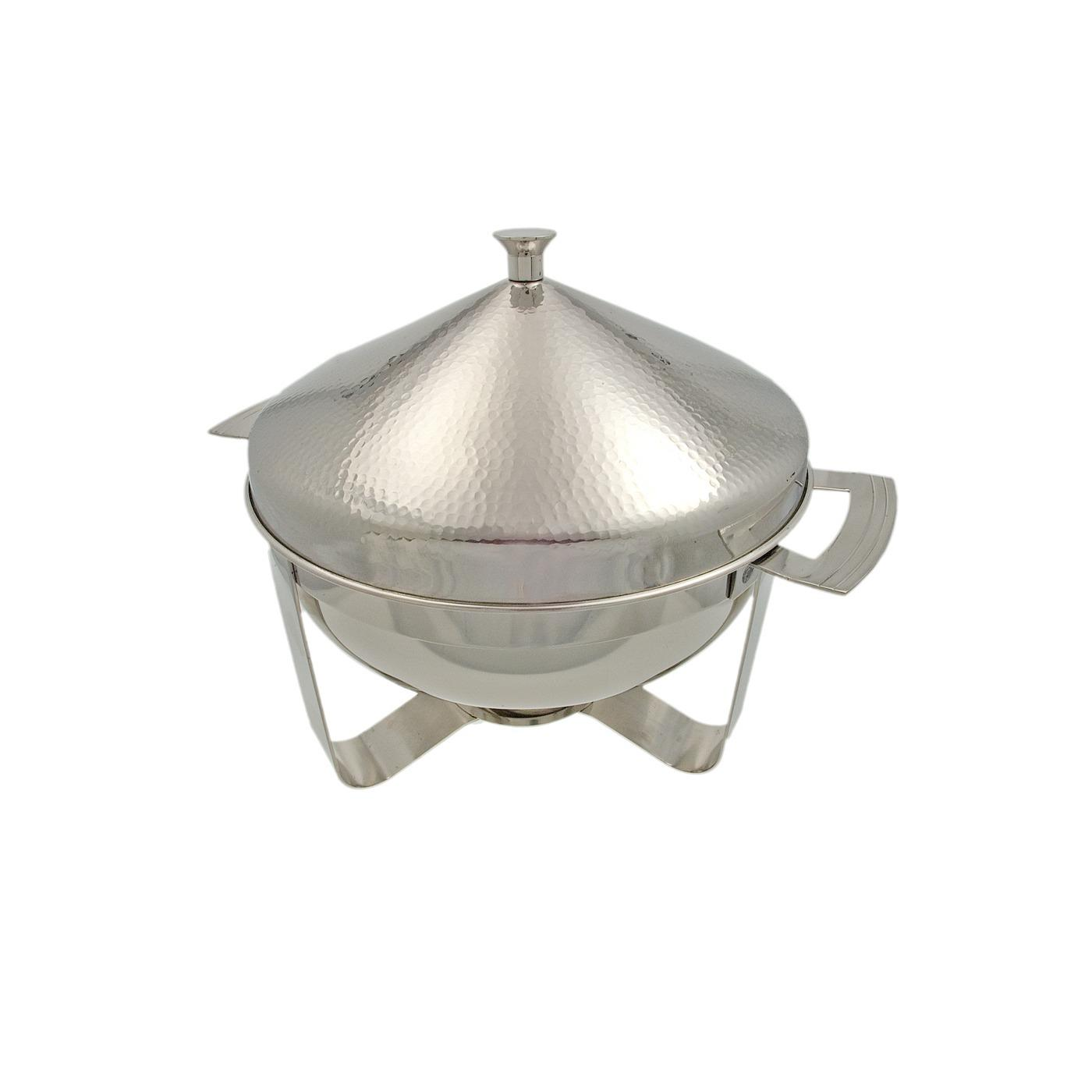 Stainless Steel Hammered Chafer - Round 8 Quart