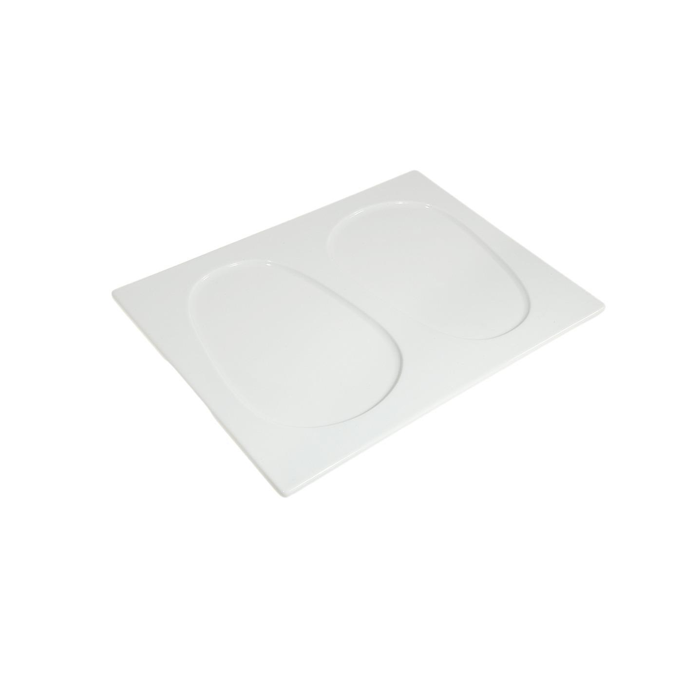 White Dual Well Plate 9