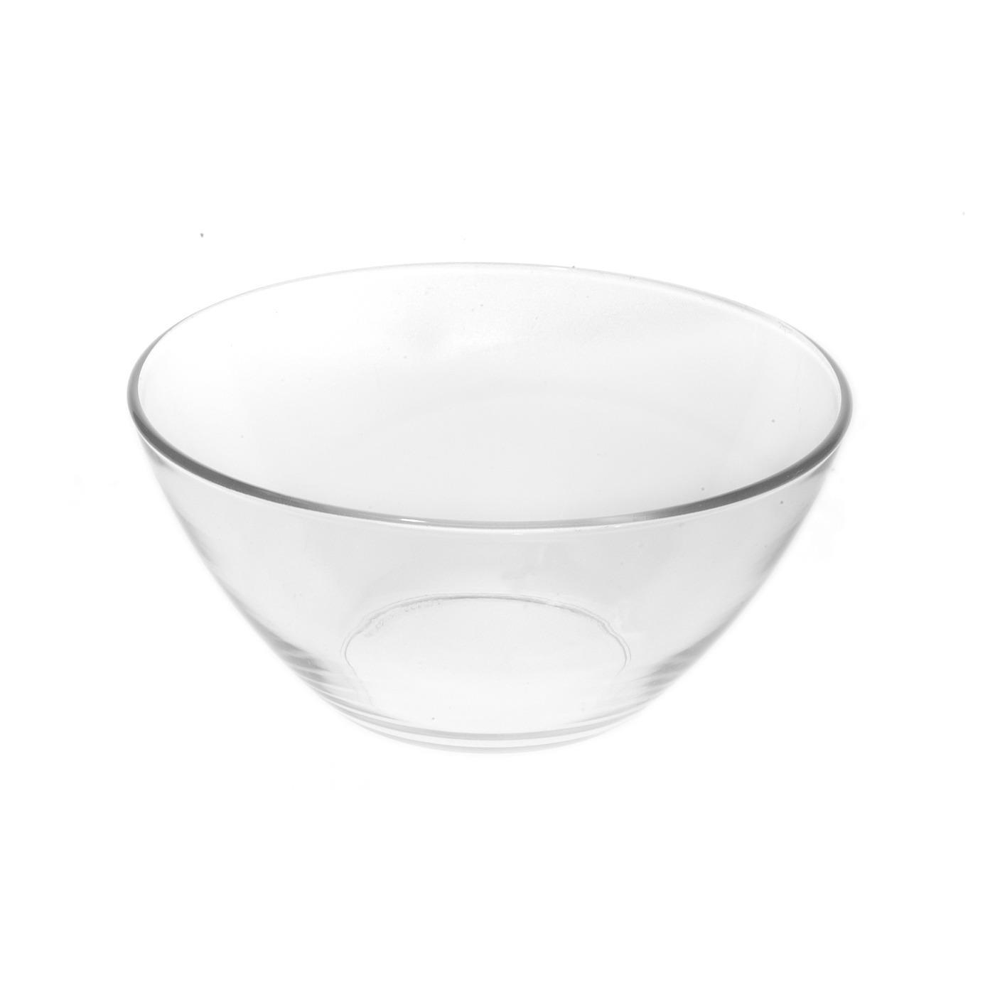 """Glass V Bowl - 8"""""""