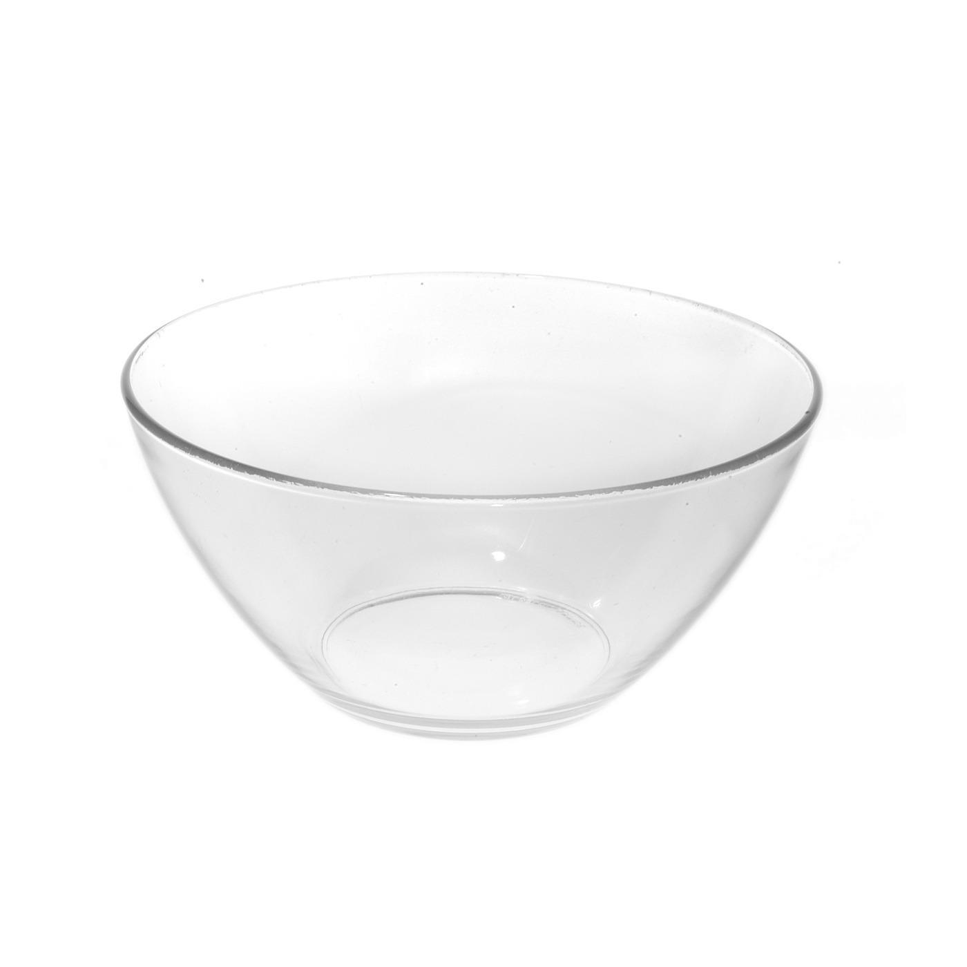 """Glass V Bowl - 9"""""""