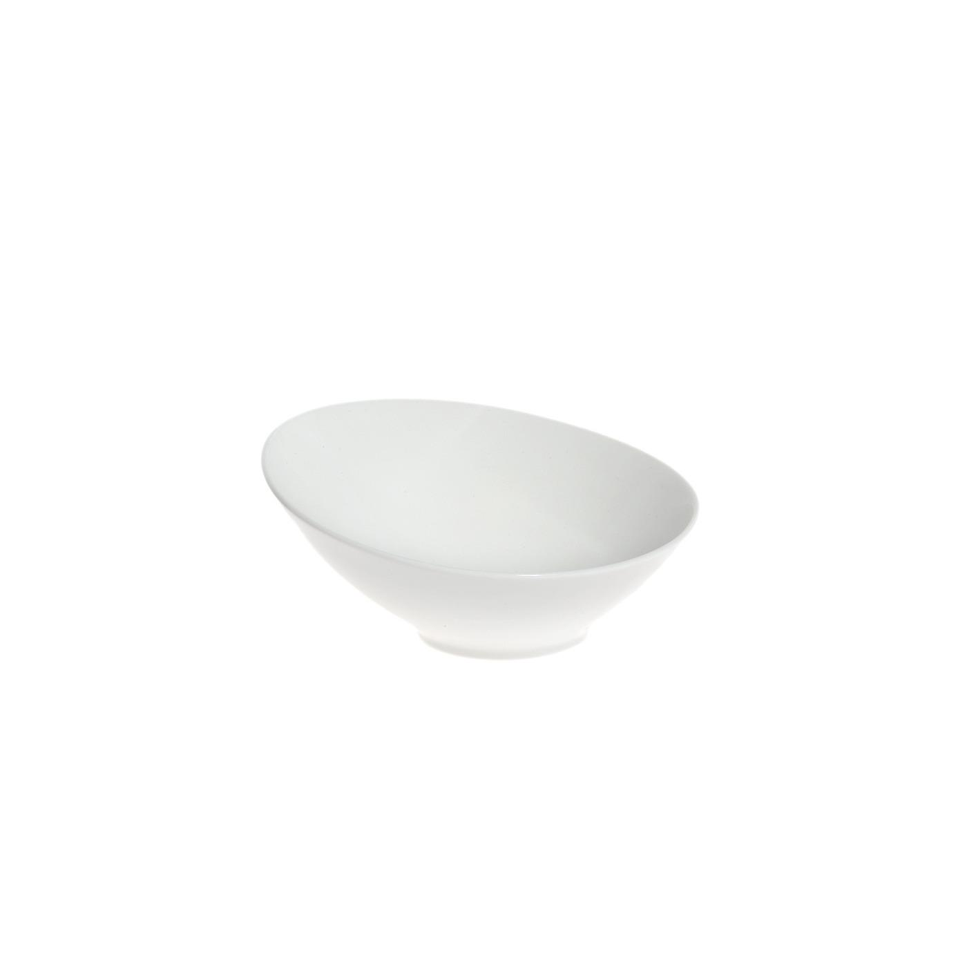 White Ceramic Sheer Bowl - 6""