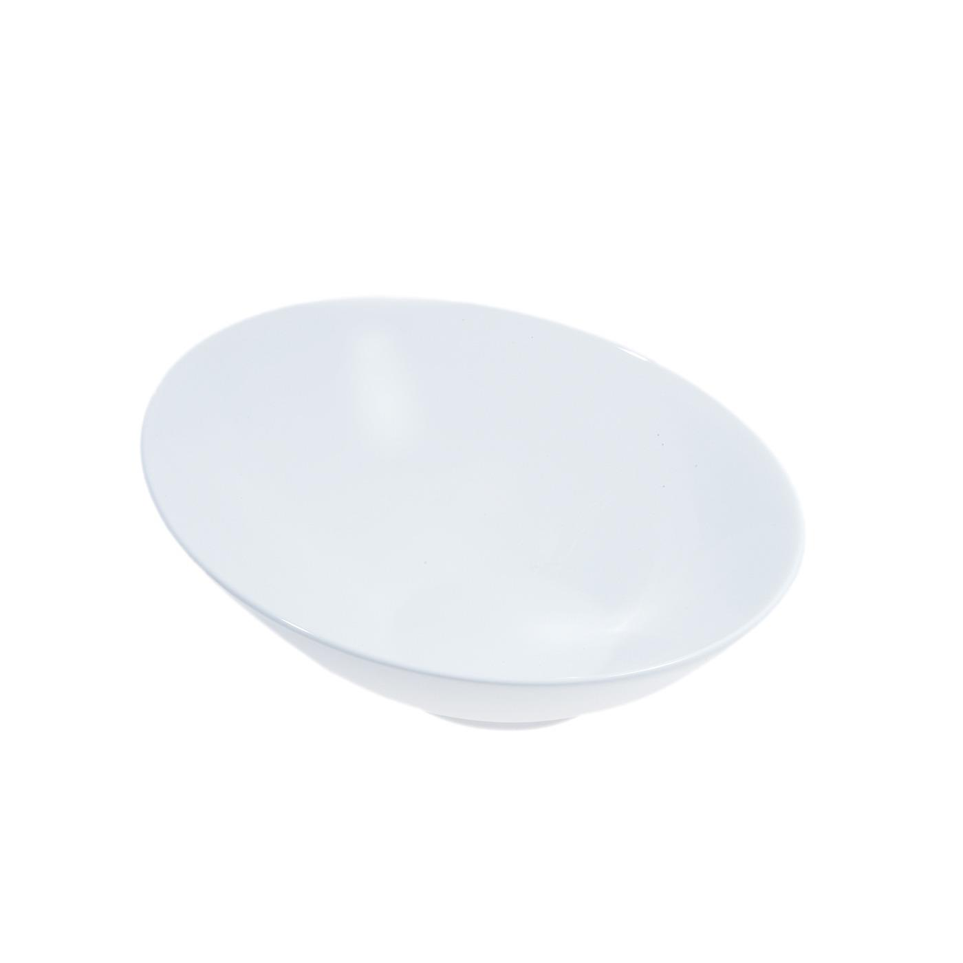 White Ceramic Sheer Bowl - 8""
