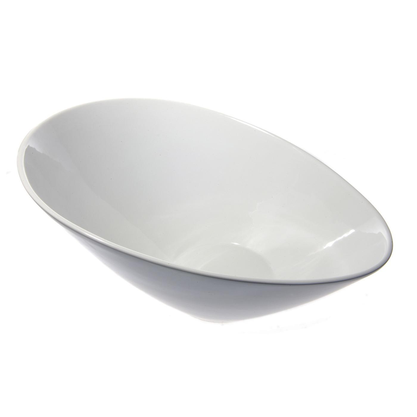 White Ceramic Sheer Bowl - 10""