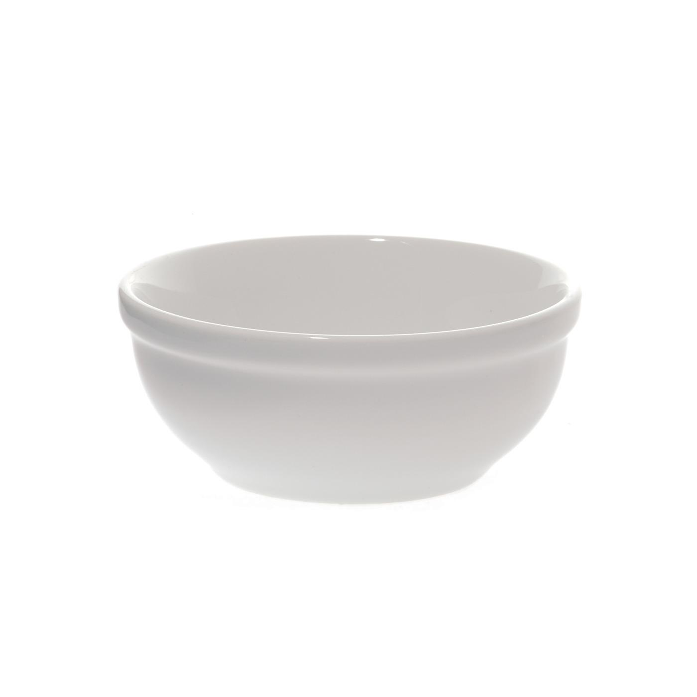 White Ceramic Round Chili Bowl