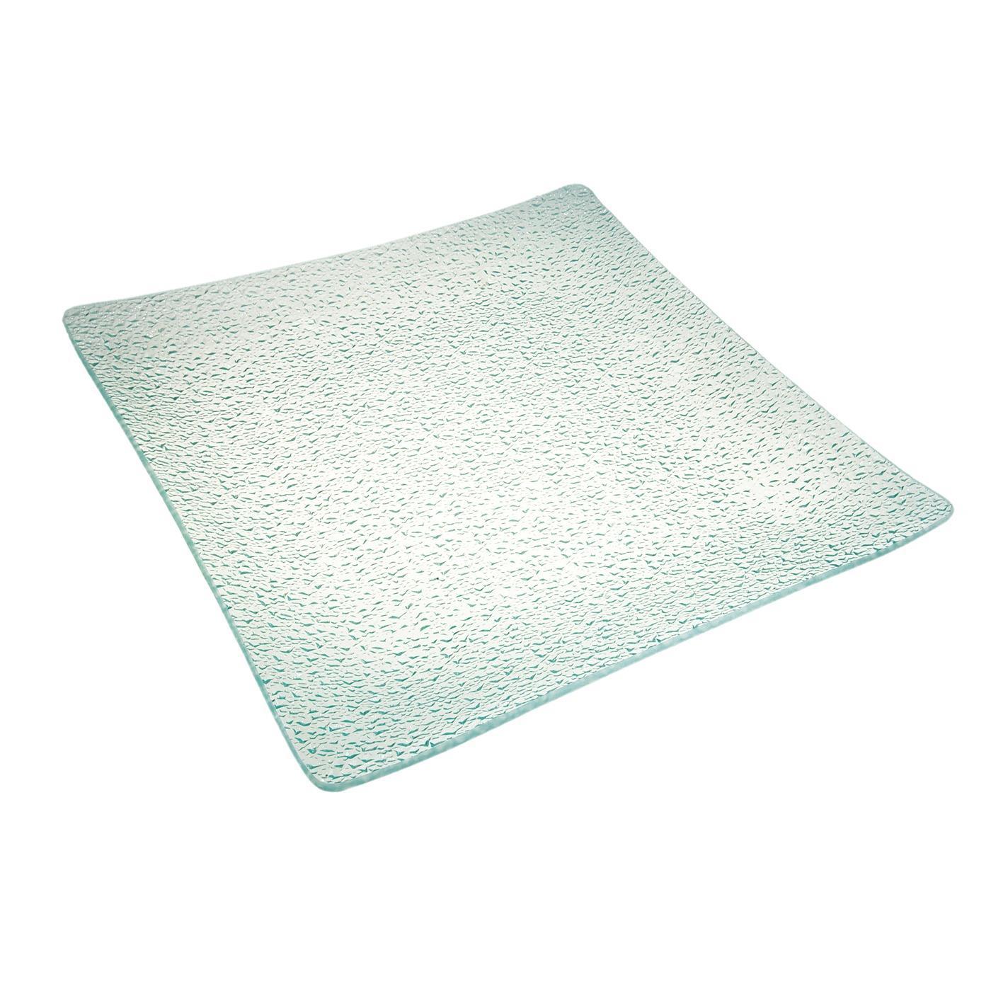 Bubble Glass Square Platter