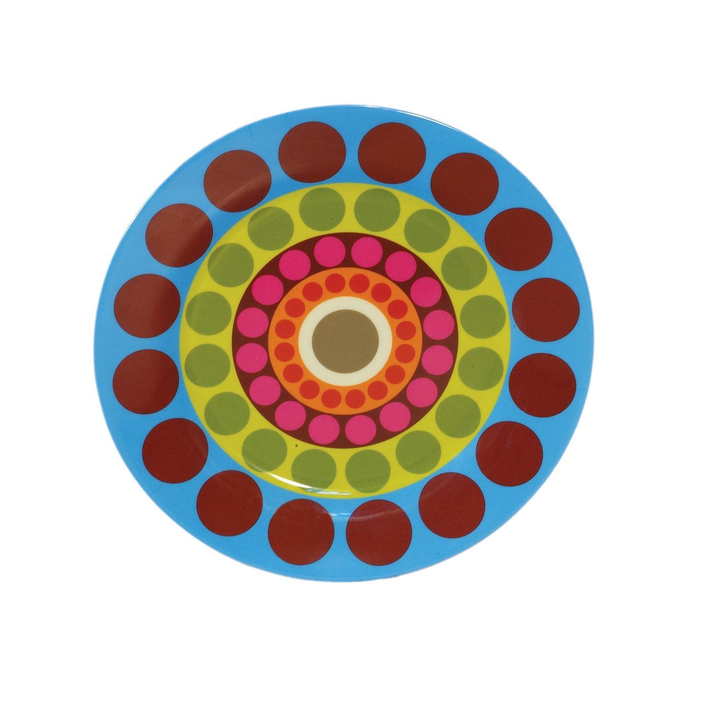 """Melamine Round Platter 15.5"""" - Dial"""