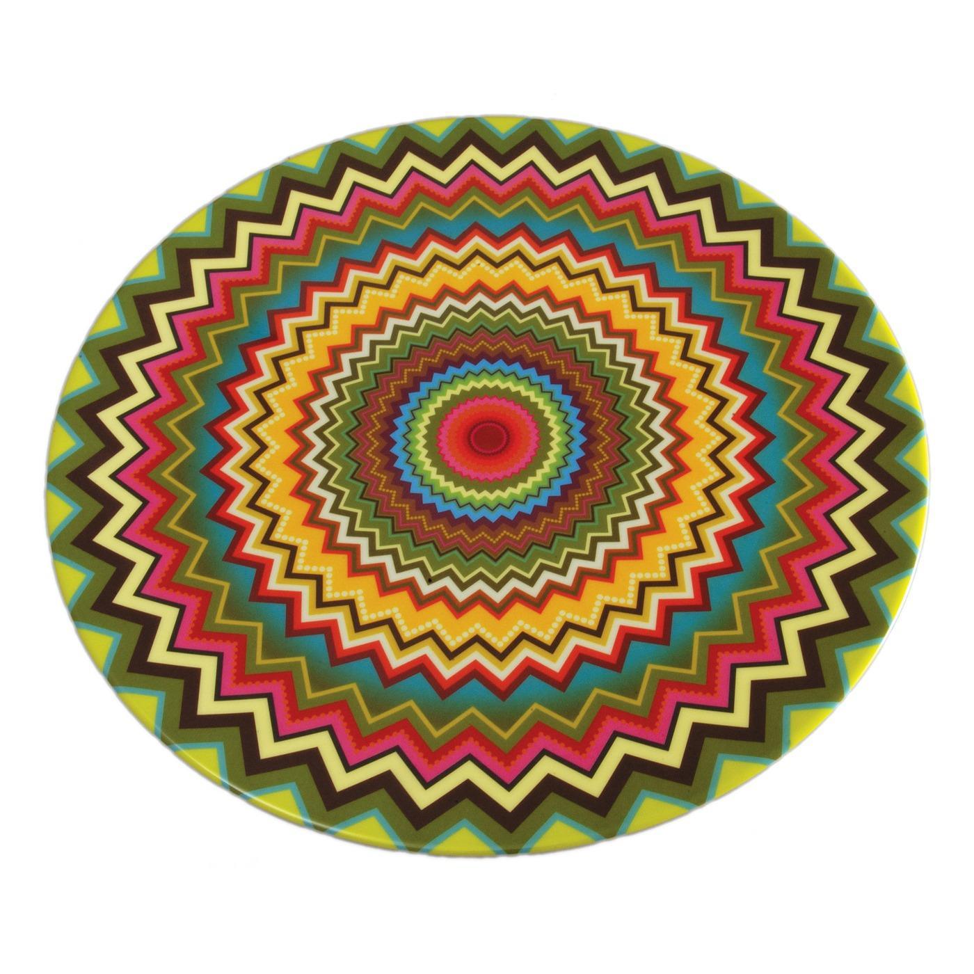 """Melamine Round Platter 15.5"""" - Mosaic"""