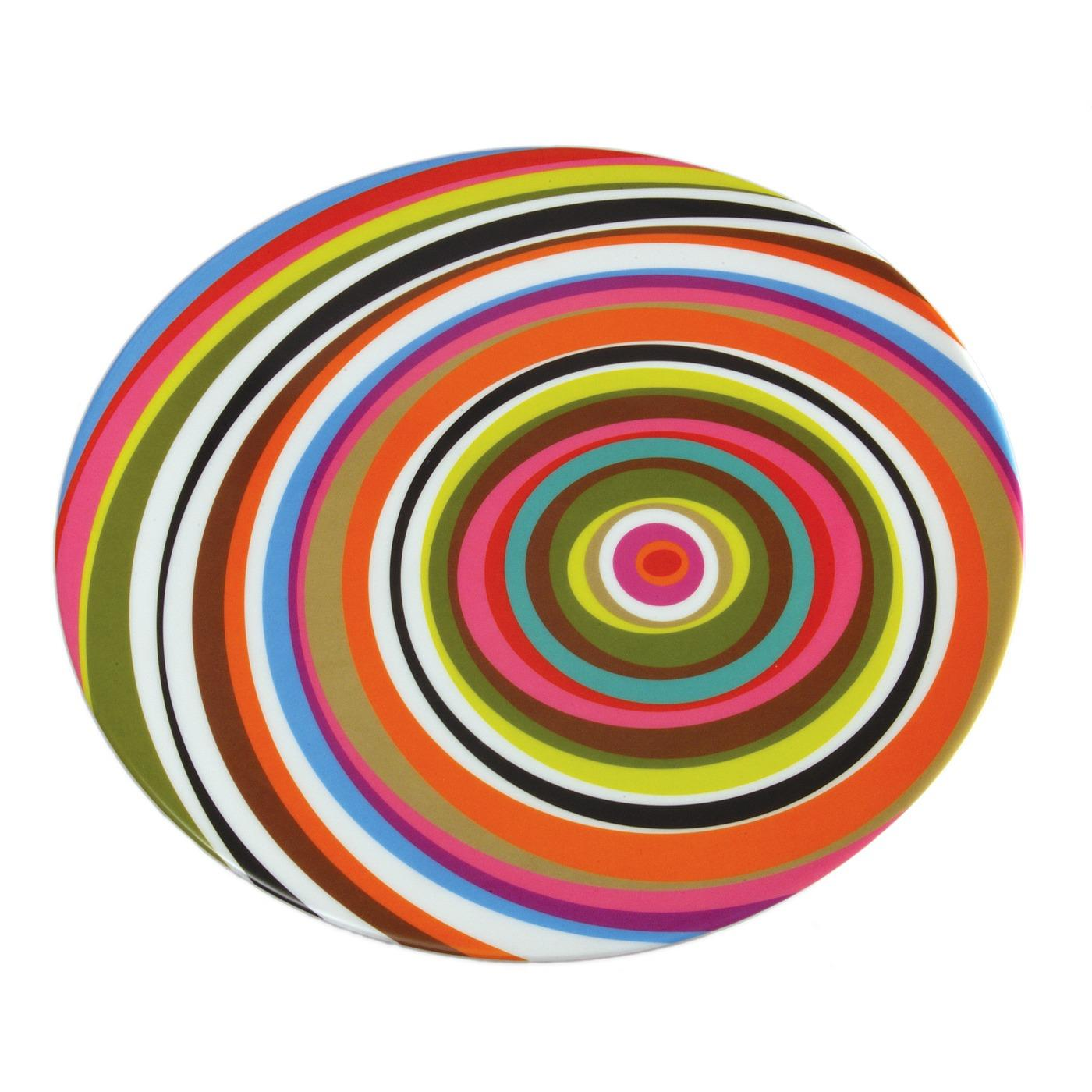 """Melamine Round Platter 15.5"""" - Ring"""