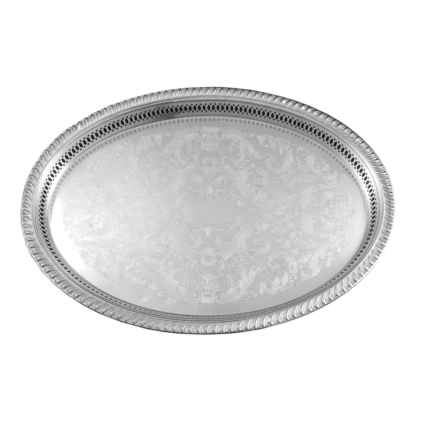 Silver Gallery Oval Tray