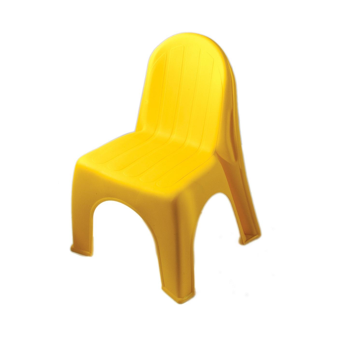 Plastic Children's Chair - Yellow