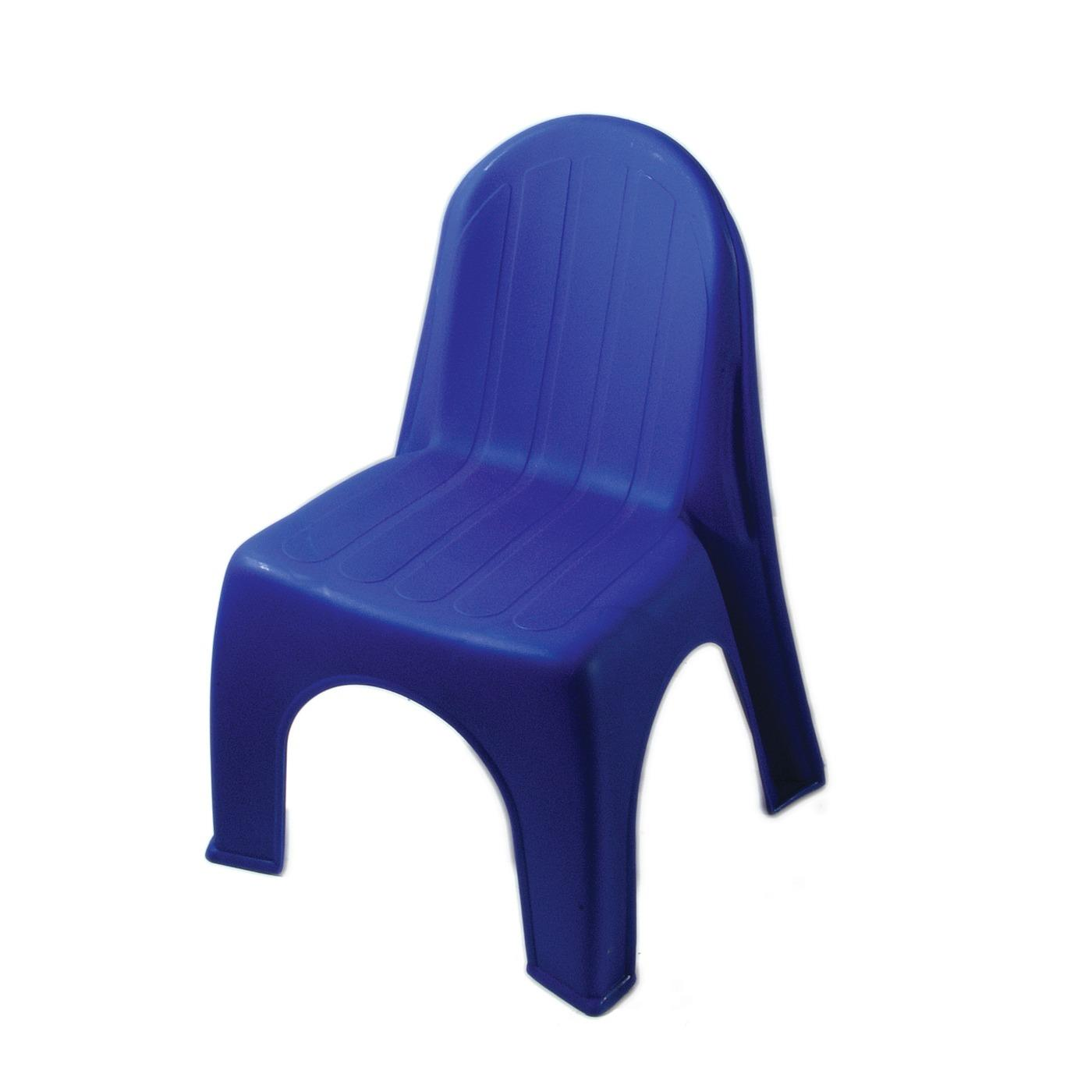 Plastic Children's Chair - Blue