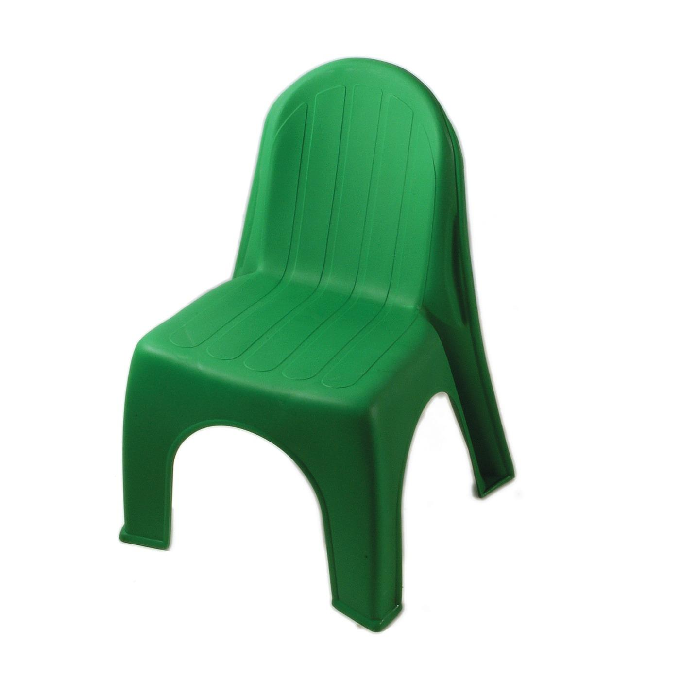 Plastic Children's Chair - Green
