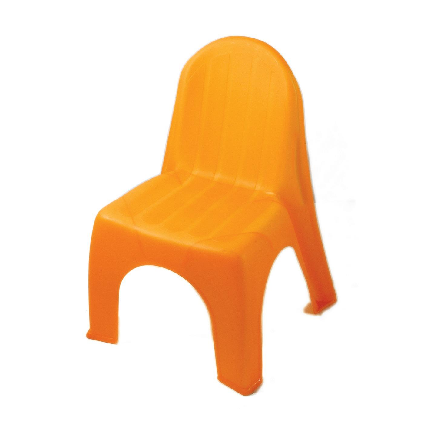 Plastic Children's Chair - Orange