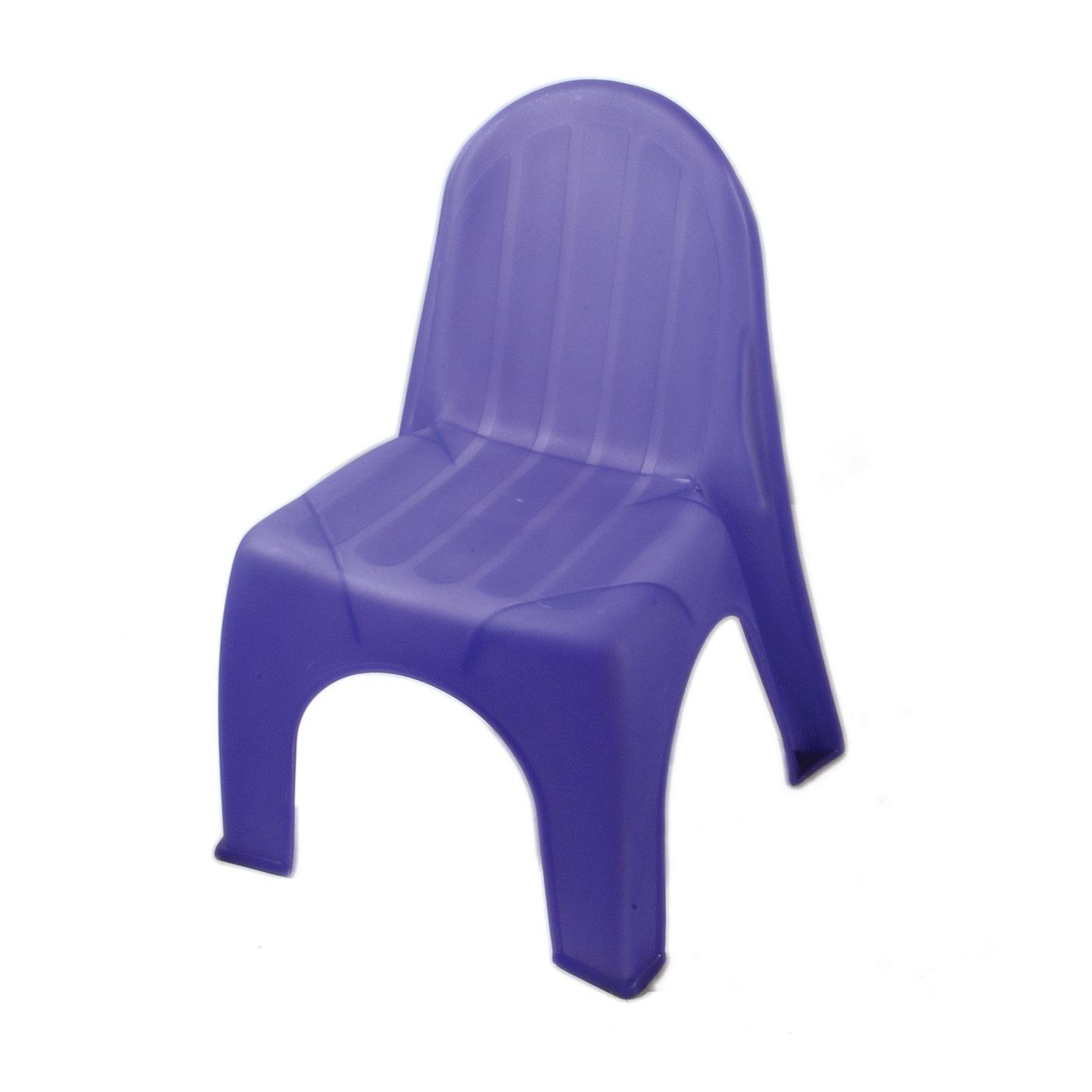 Plastic Children's Chair - Purple