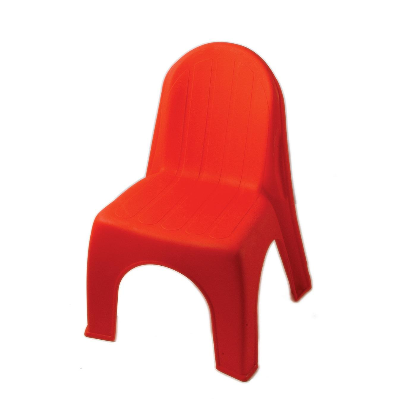 Plastic Children's Chair - Red