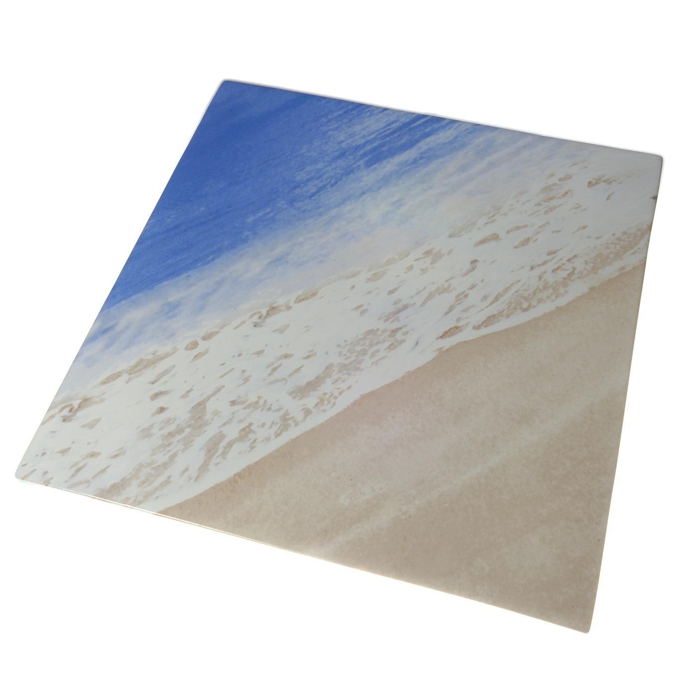 Beach Ceramic Square Platter