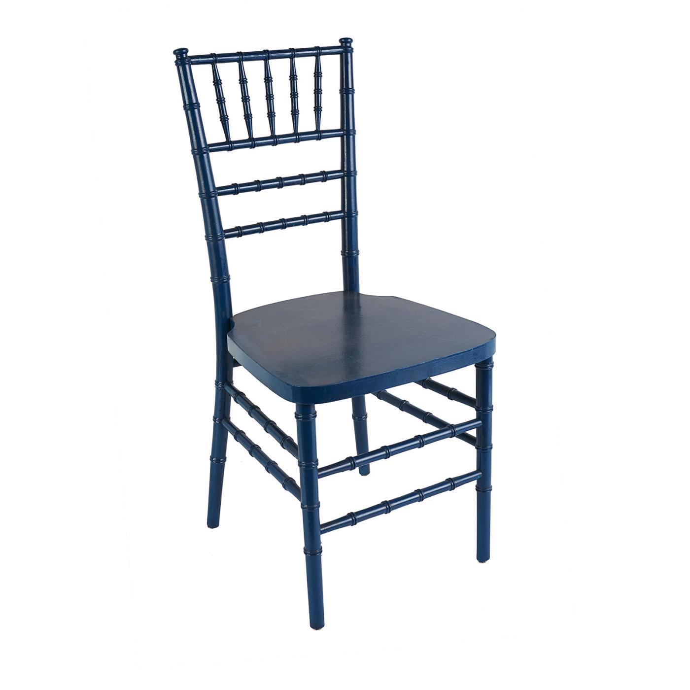 Navy Reception Chair