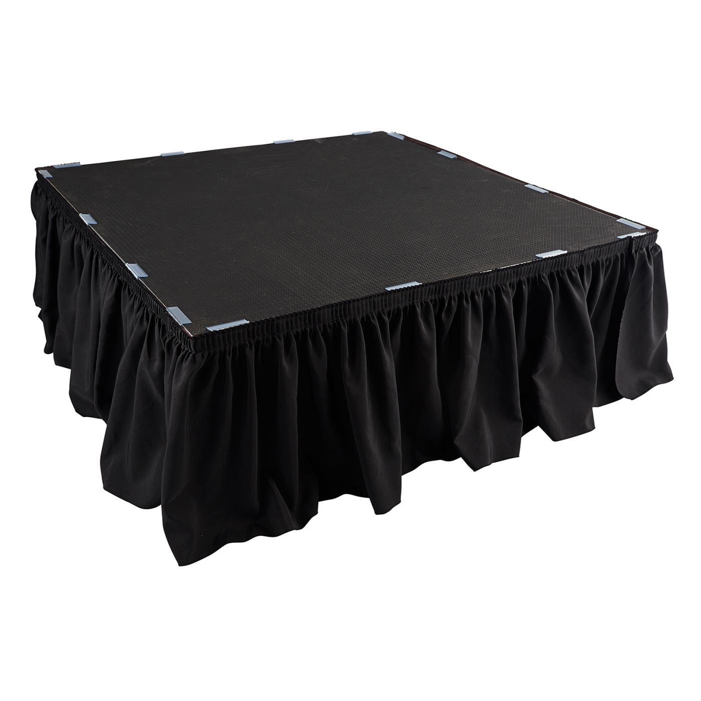 Poly Black Platform Skirt