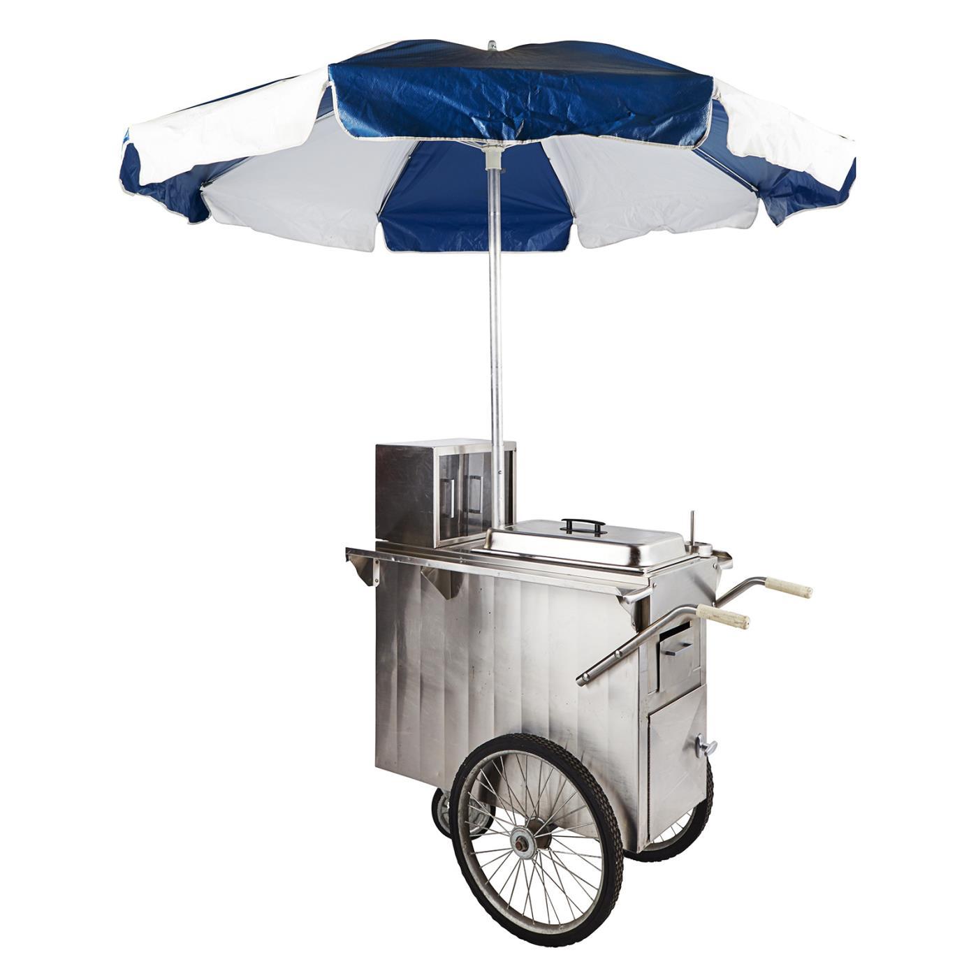 Hot Dog Cart Umbrella for Rent NYC | SDPR