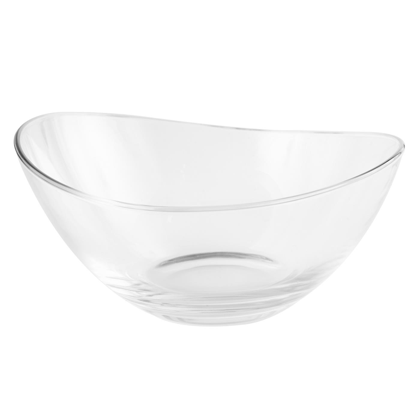 "Glass Papaya Bowl - 9.5"""