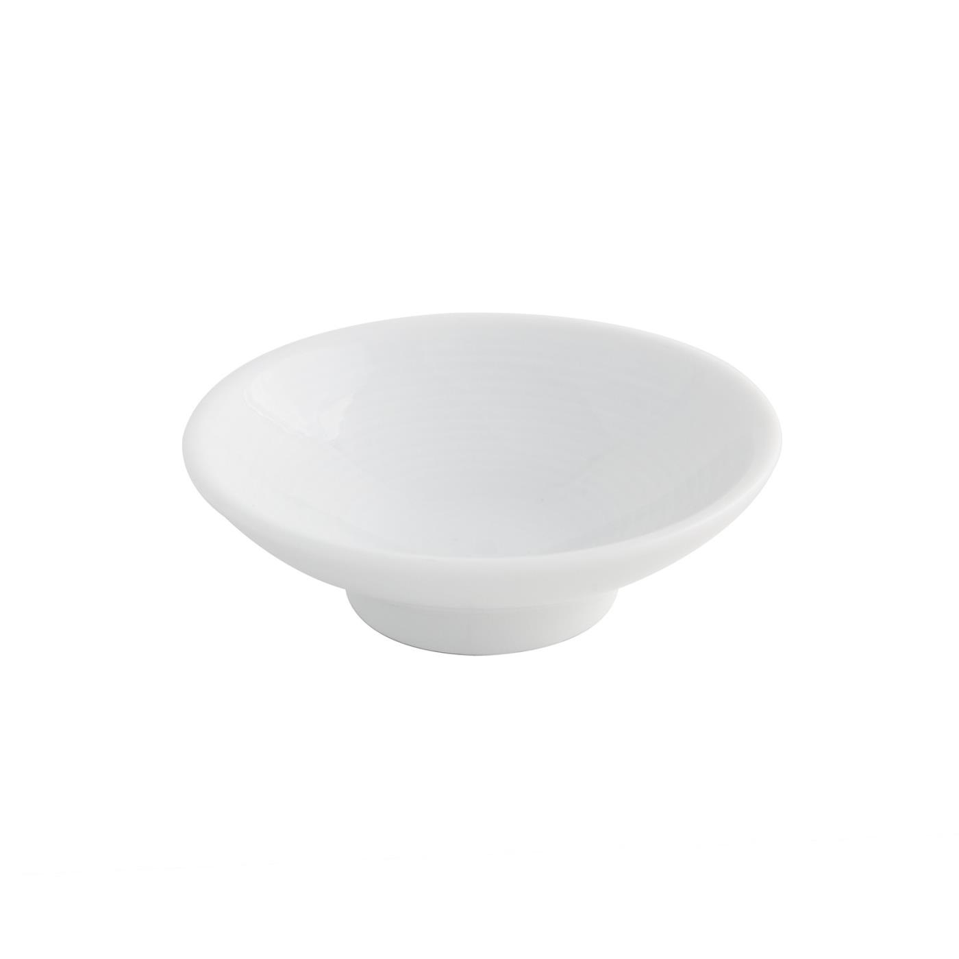 White Ceramic Mini Spiral Bowl