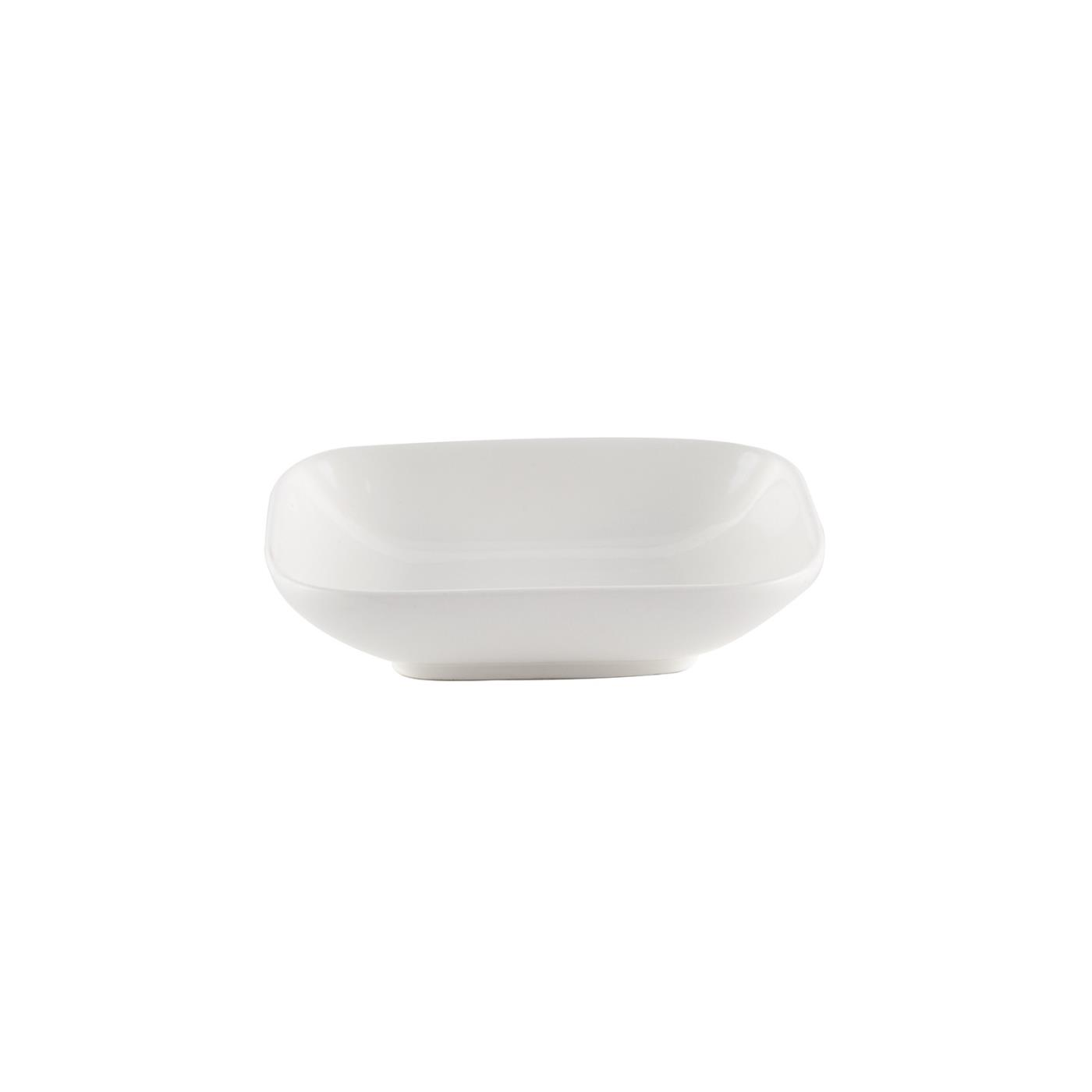"White Ceramic Square Bowl - 5"" Rounded Corners"