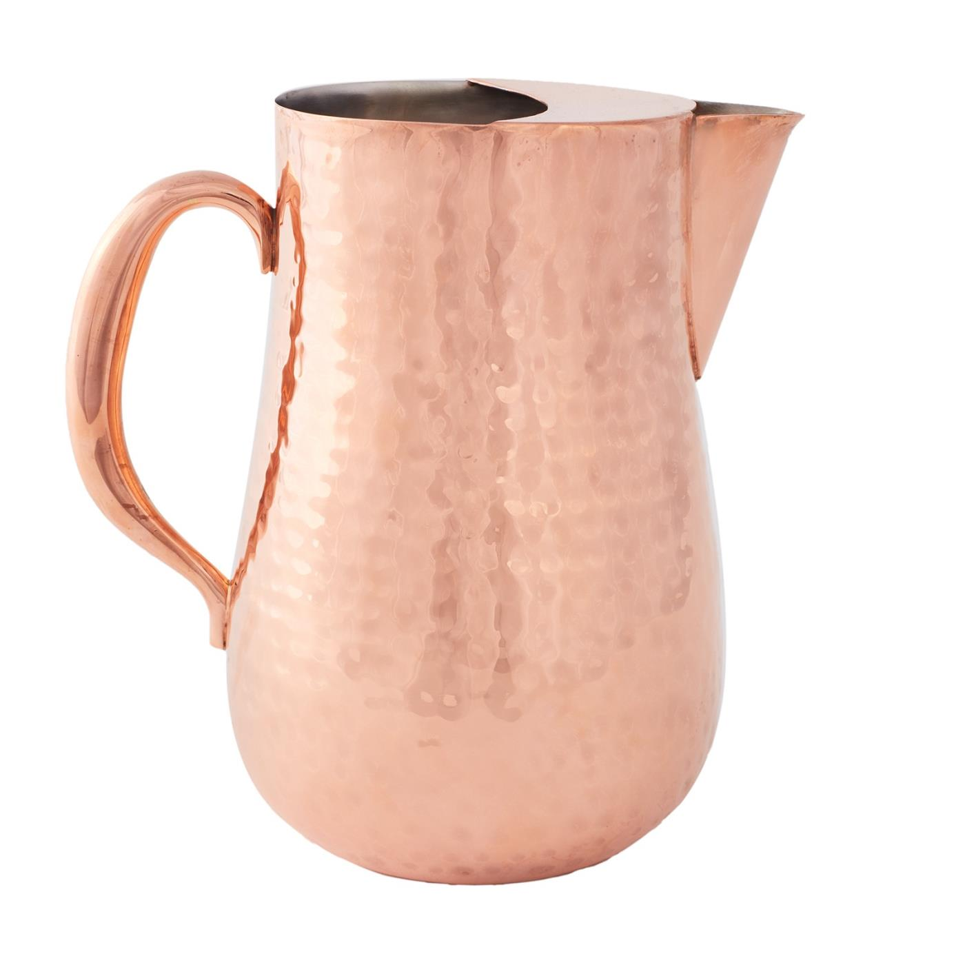 Copper Hammered Water Pitcher