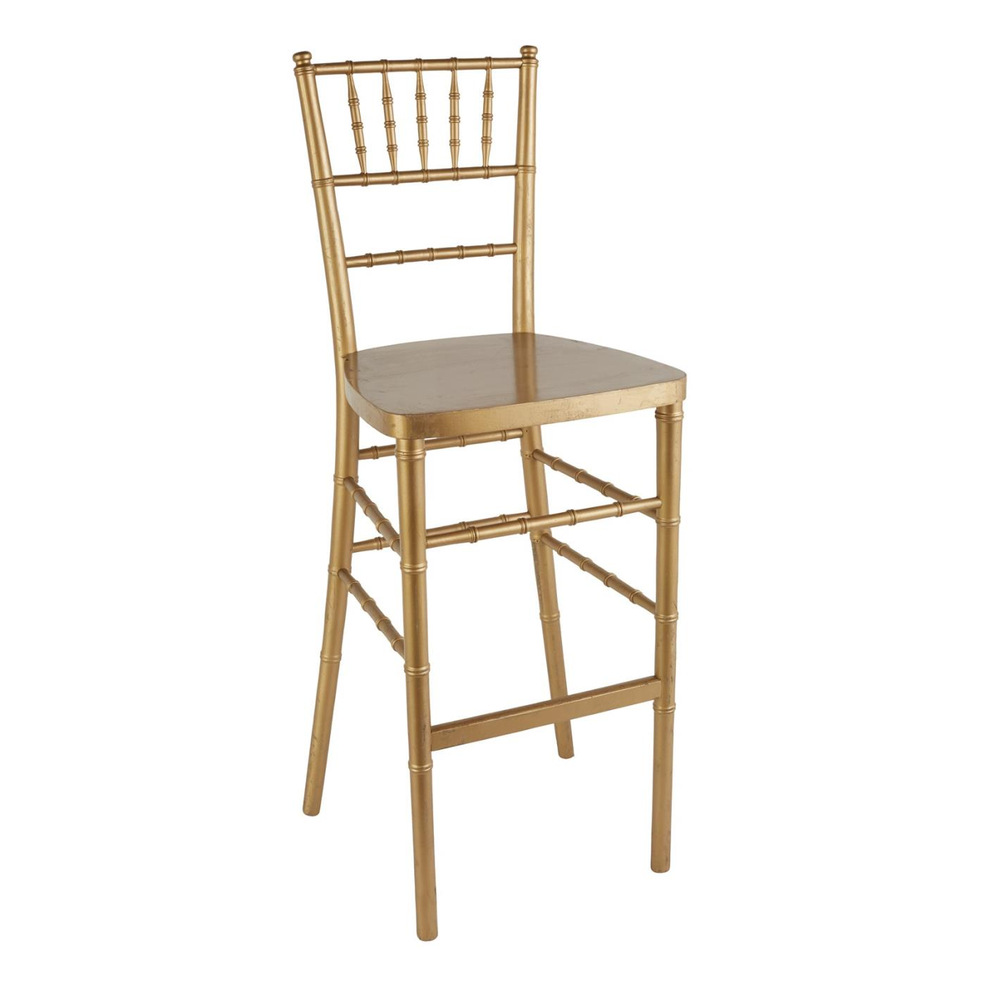 Reception Stool - Gold