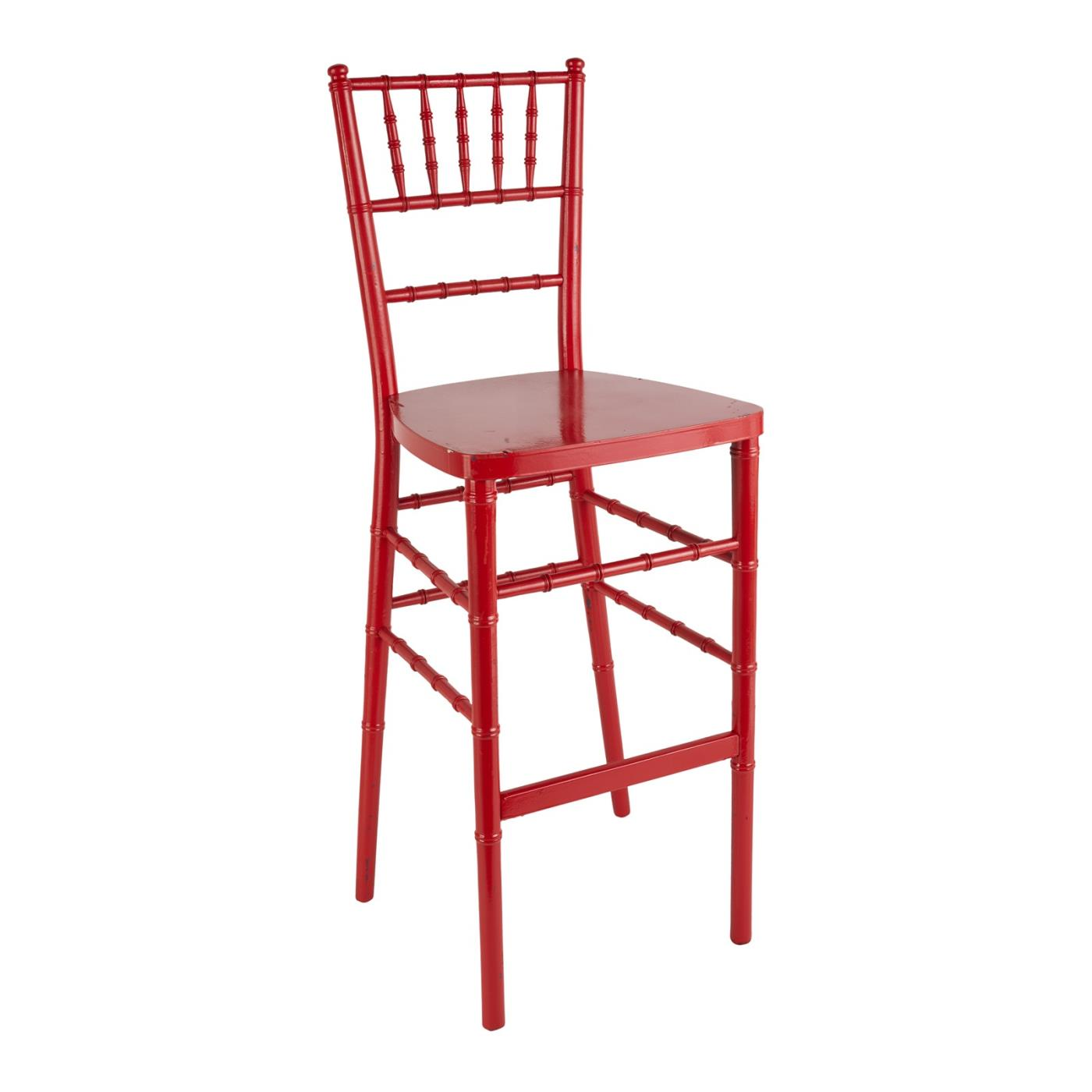 Reception Stool - Red