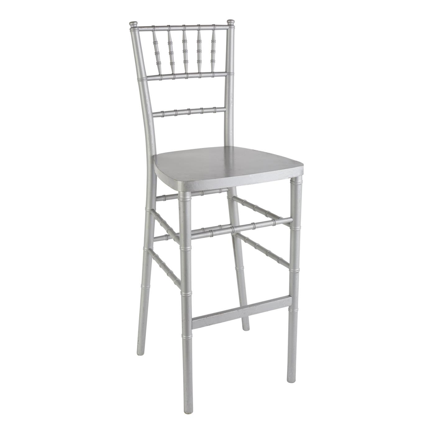 Reception Stool - Silver