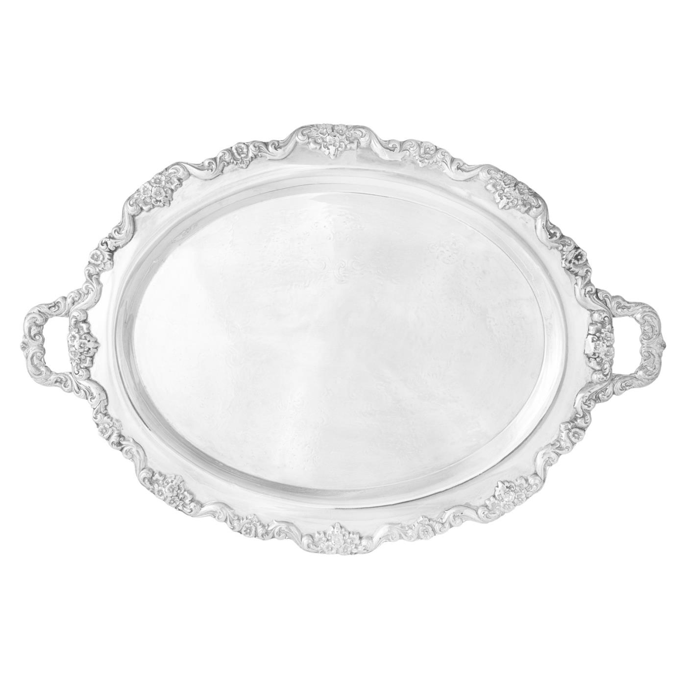 Silver Oval Tray With Handles