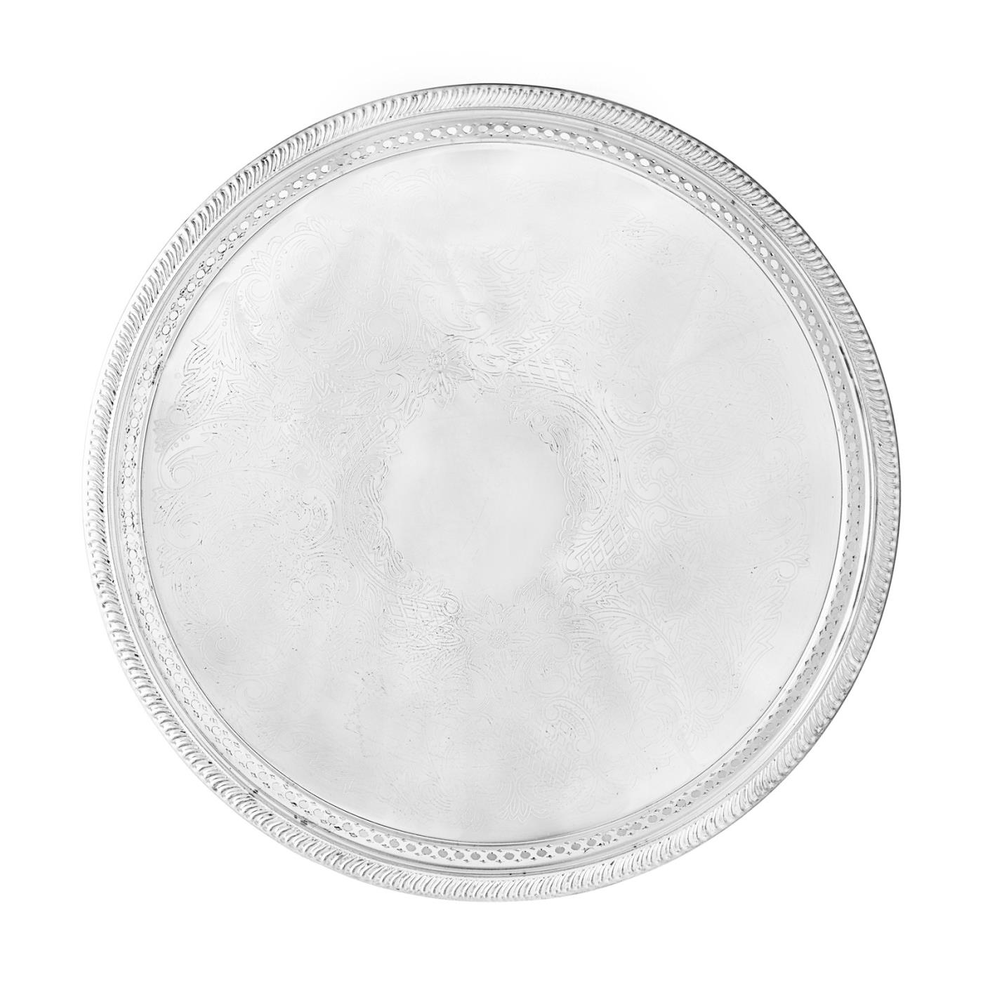 Silver Gallery Round Tray
