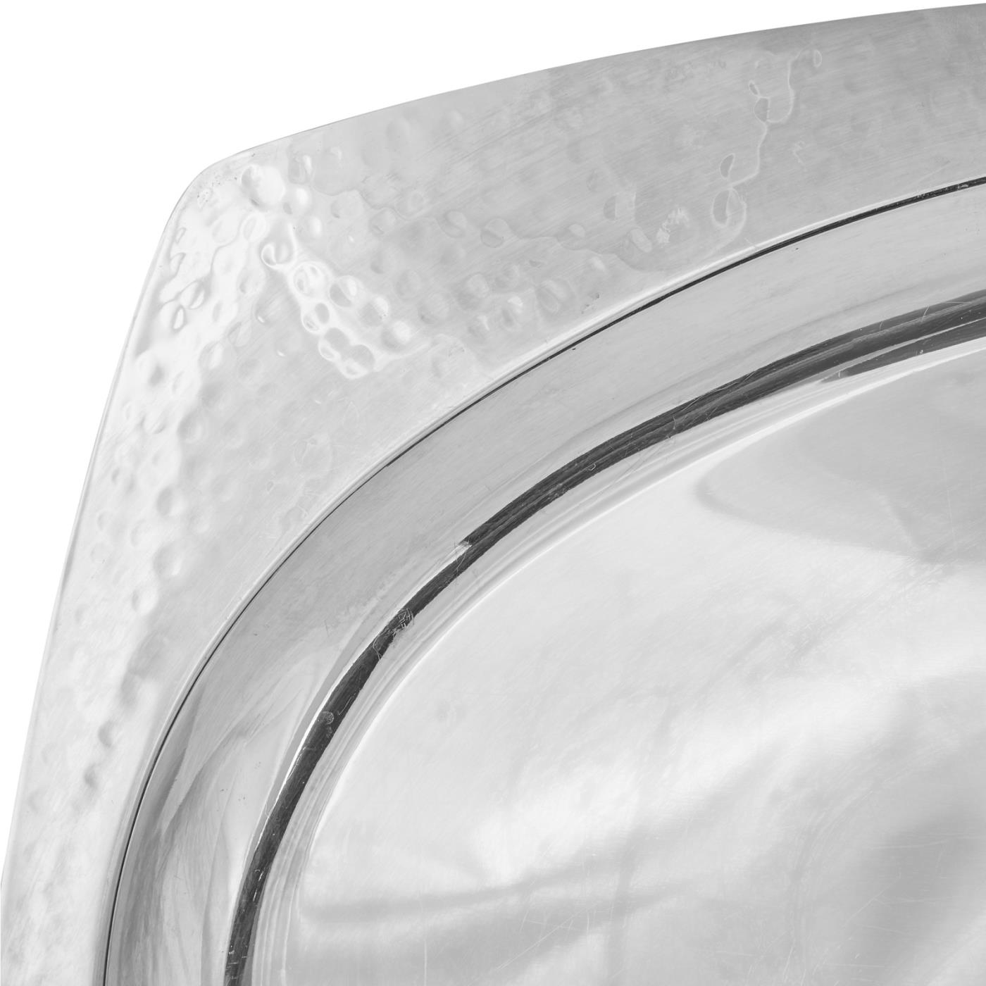 Hammered Rim Oval tray Detail