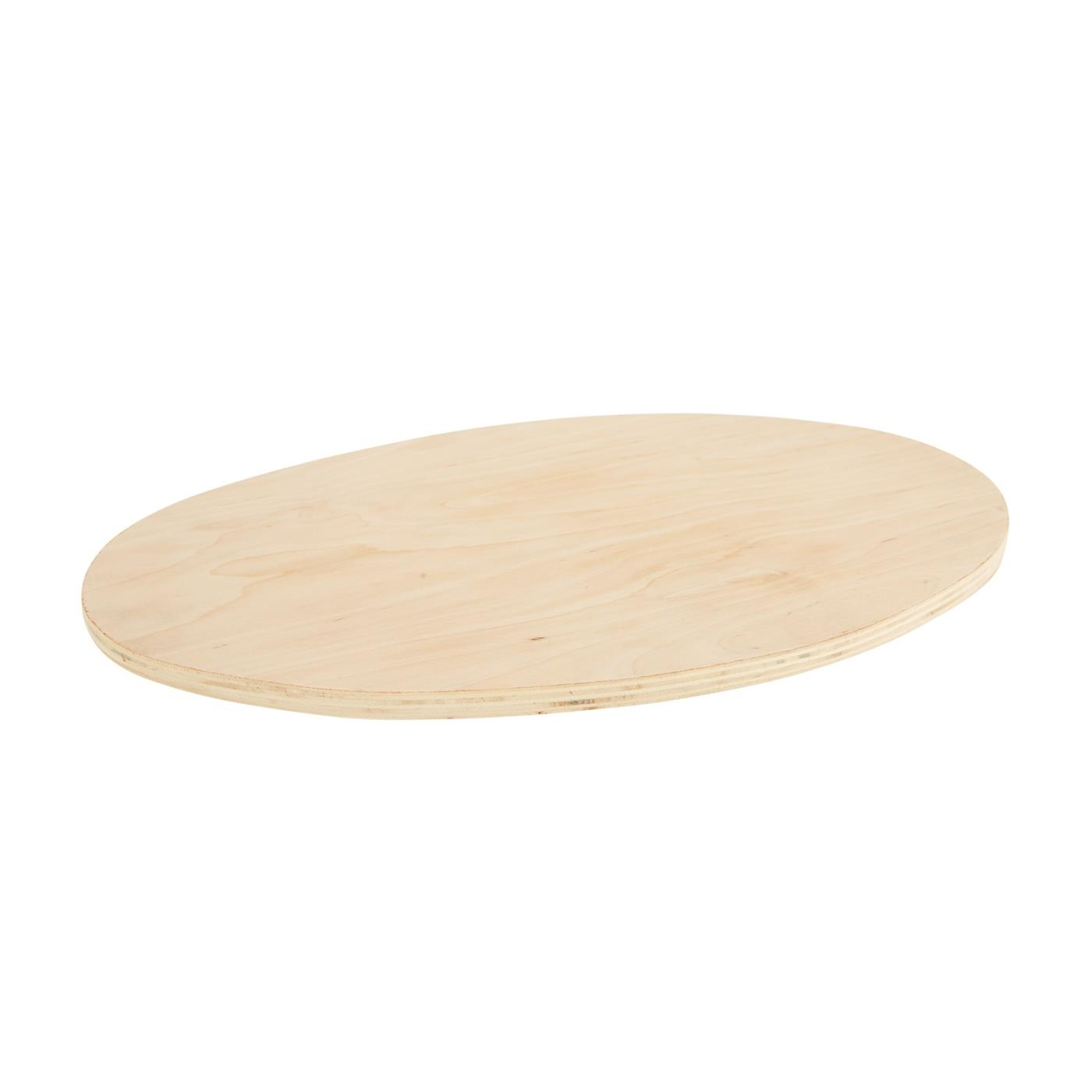 Wood Cutting Board For Silver Oval Tray