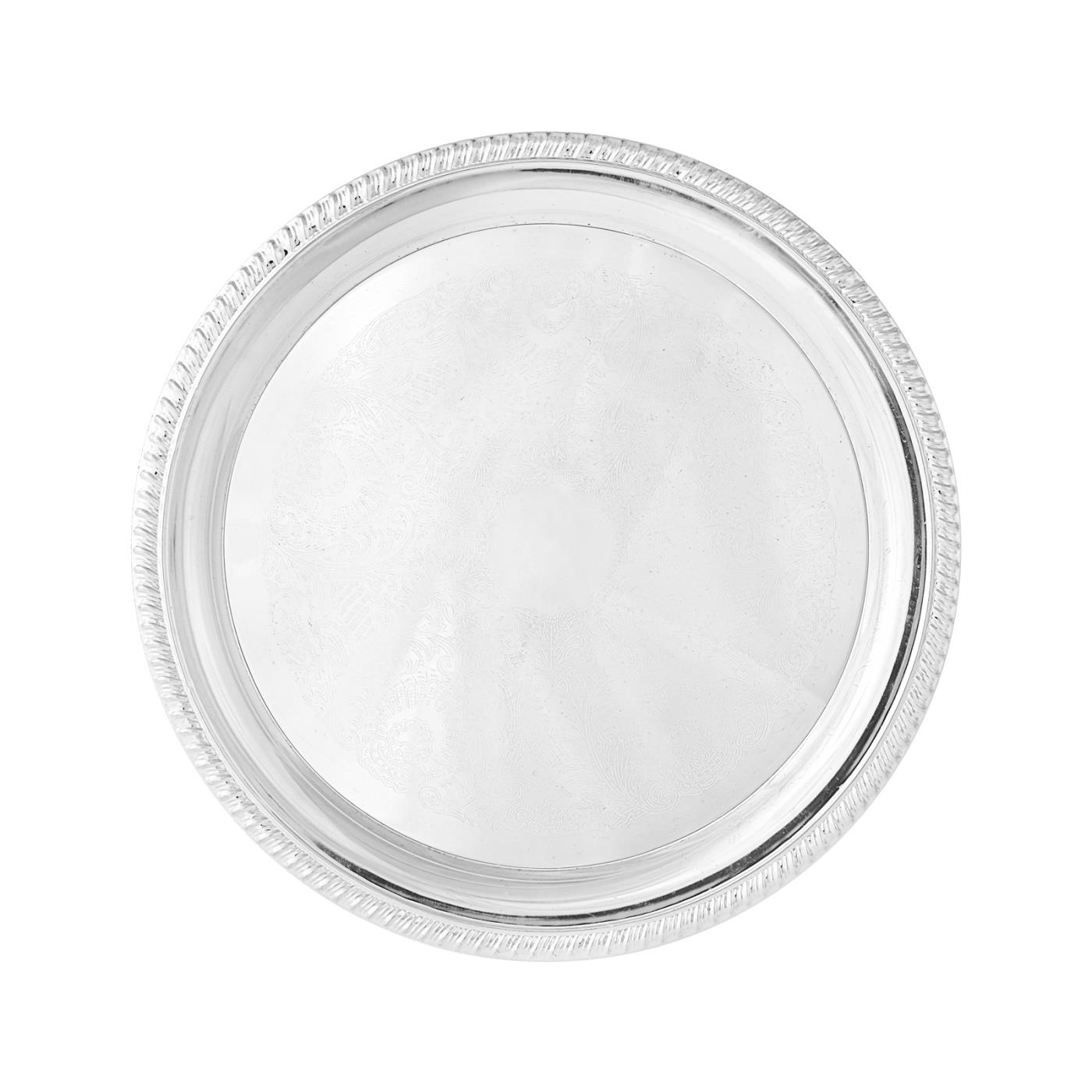 Silver Round Tray - 12""