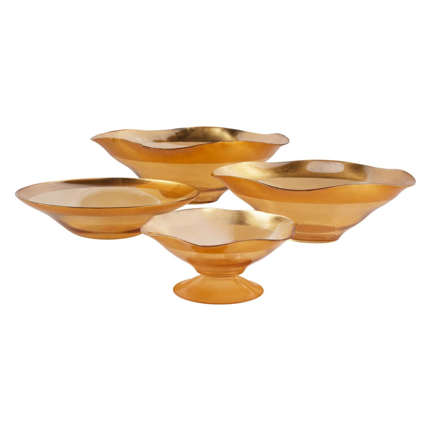 Gold Luster Bowl - 12.5