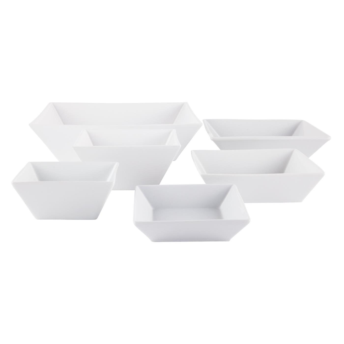 White Ceramic Square Bowl