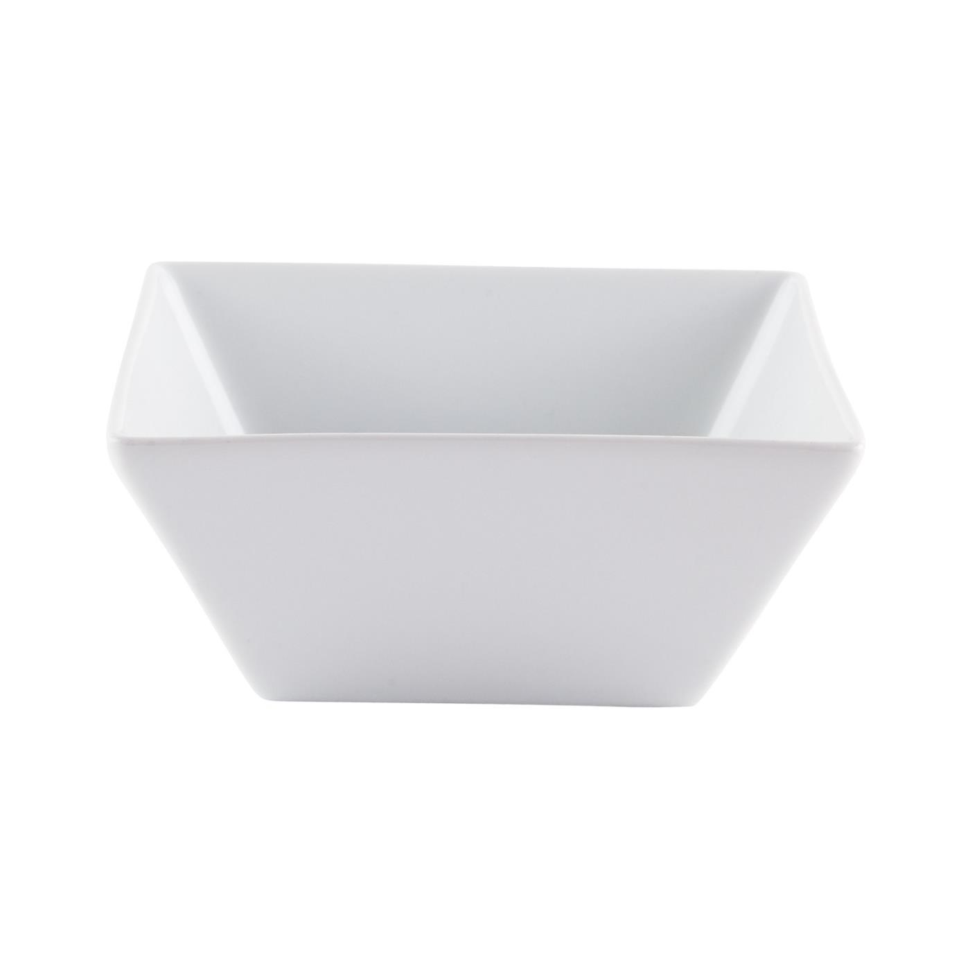 "White Ceramic Square Bowl - 6"" Deep"
