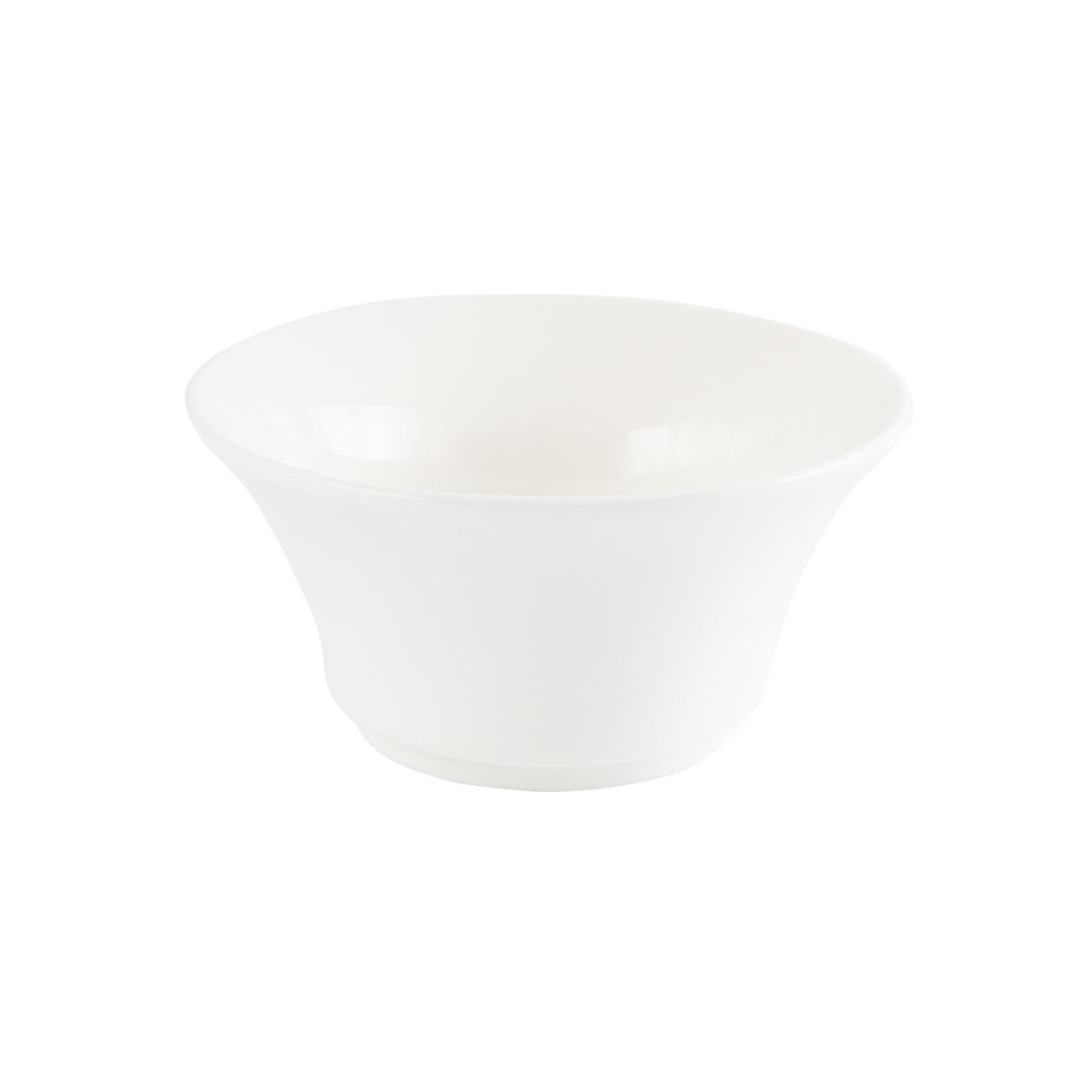 "White Ceramic Flared Bowl - 4.25"""