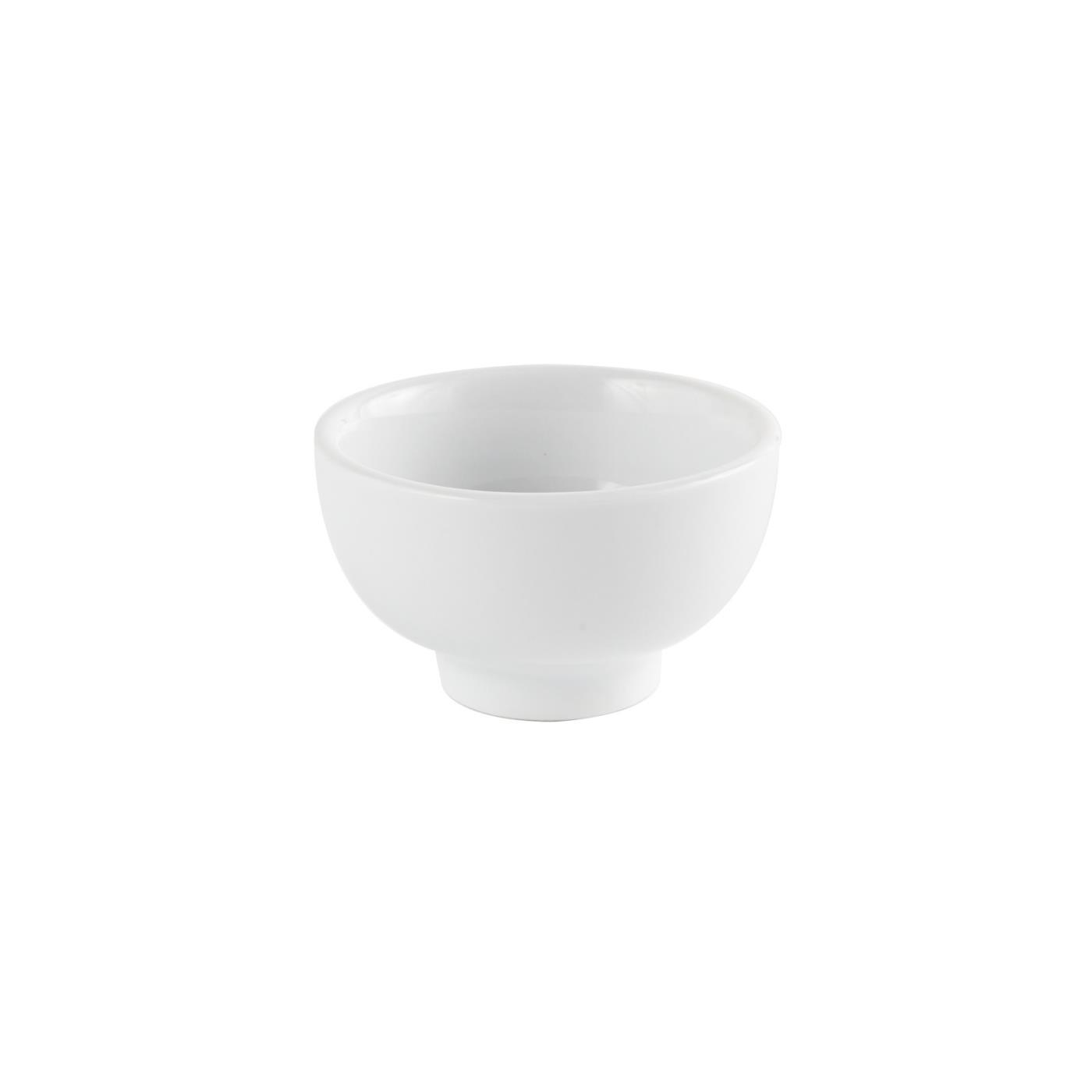 """White Ceramic Round Rice Bowl - 3"""""""