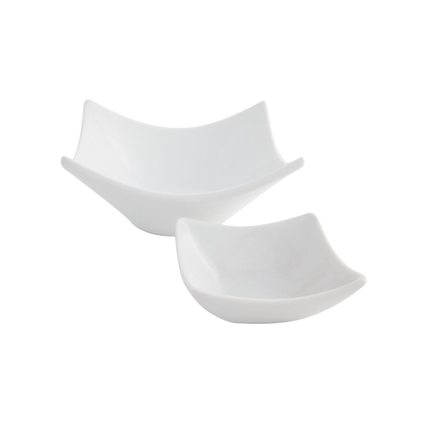 White Square Origami Dish