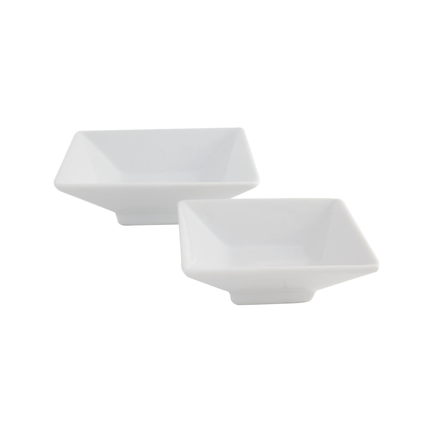 White Square Pedestal Dish