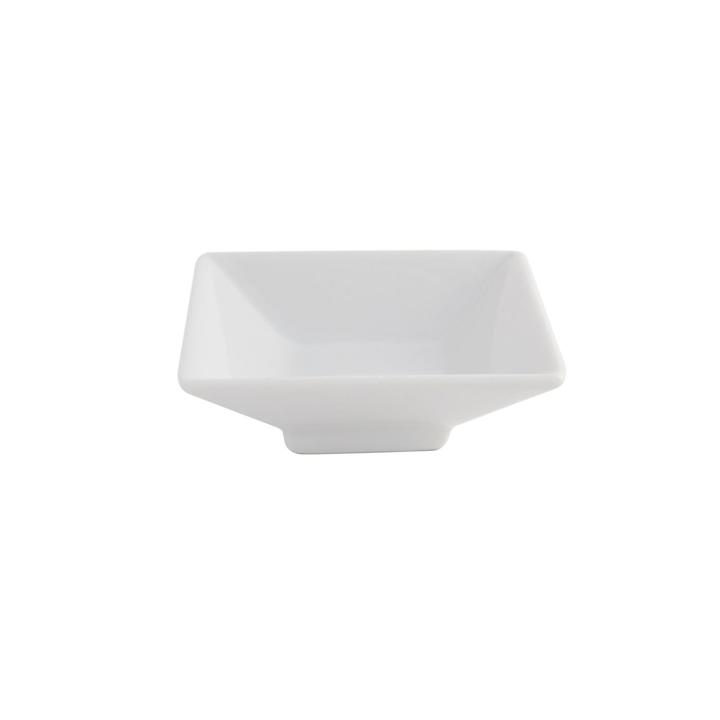 "White Square Pedestal Dish - 3"""