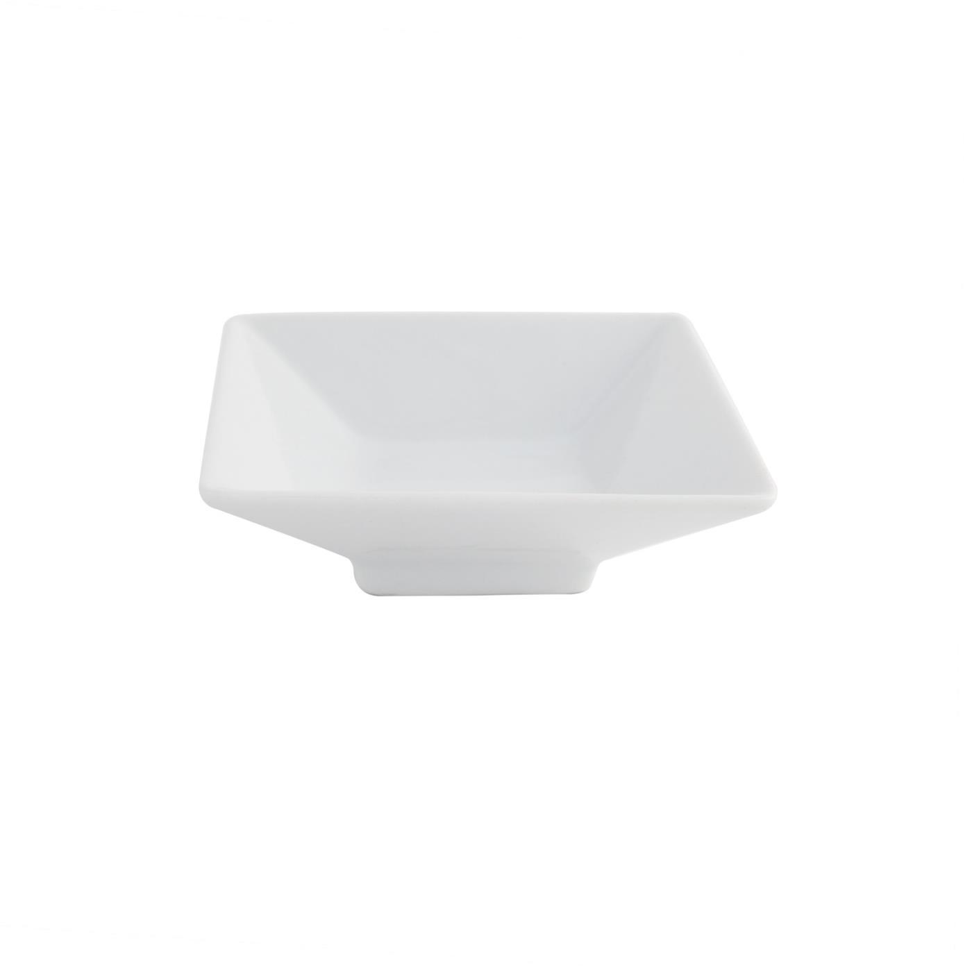 "White Square Pedestal Dish - 4"""