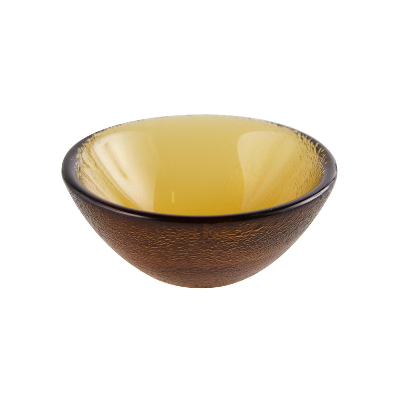 "Glass Dipping Bowl 3.25"" - Amber"