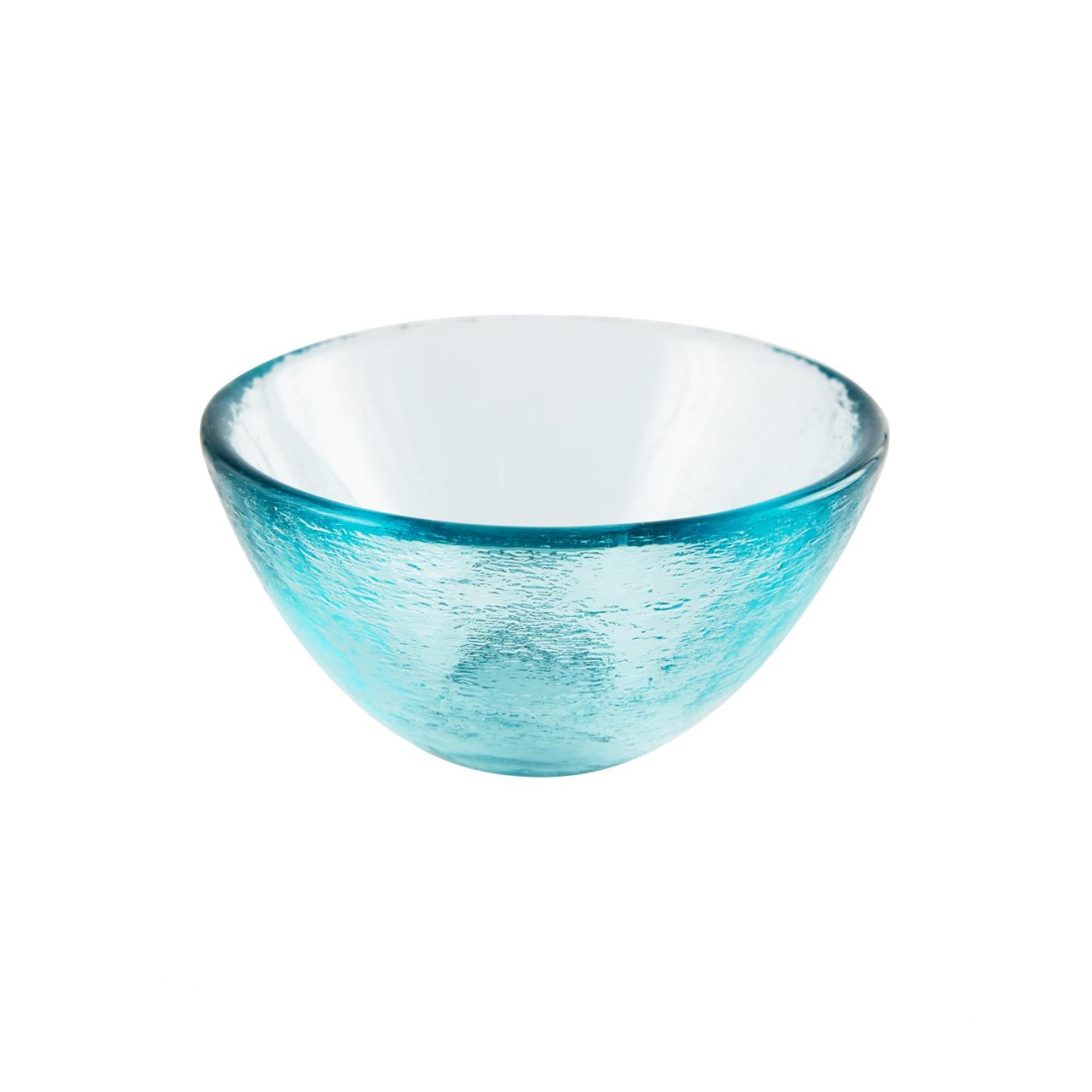 "Glass Dipping Bowl 3.25"" - Aqua"