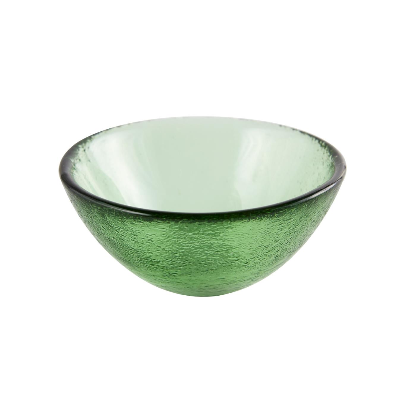 "Glass Dipping Bowl 3.25"" - Green"