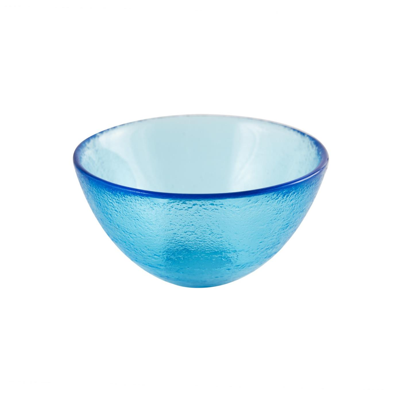 "Glass Dipping Bowl 3.25"" - Ocean Blue"
